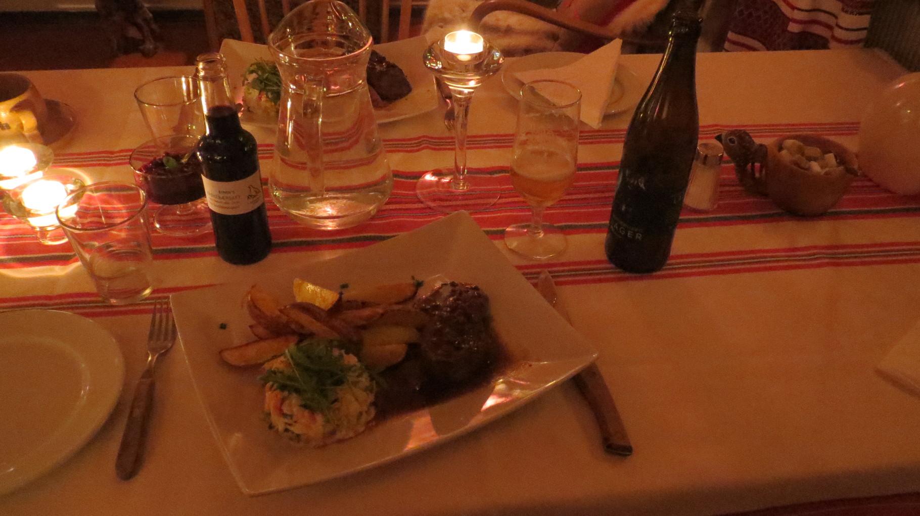 ... Rentierbraten zum Abendessen ...