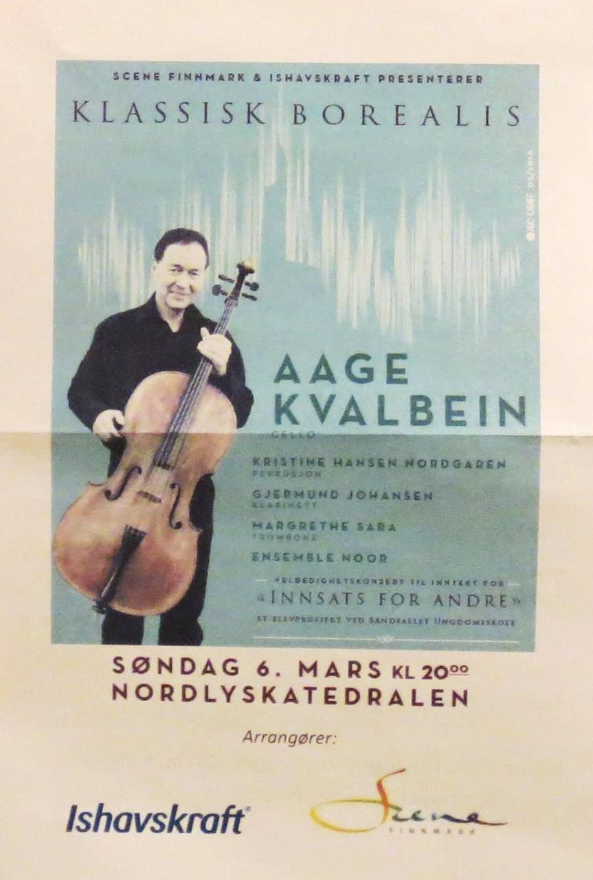 Am Abend dann etwas Kammermusik in der Nordlyskatedralen ...