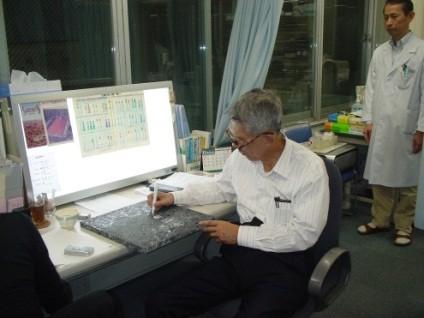 福岡クリニックにて 丹羽先生と松本先生