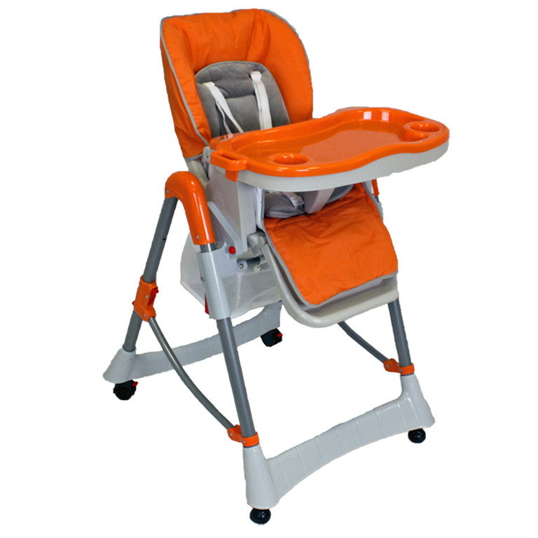 Chaise Haute Bébé / Enfant en Orange