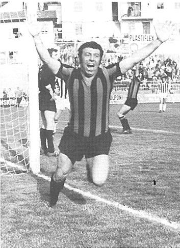La gioia di Giordano dopo il gol vittoria