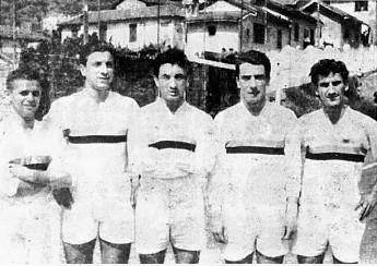 Il super attacco da 102 gol: Gilardoni, Dapelo, Bistolfi, Oddone e Minuto