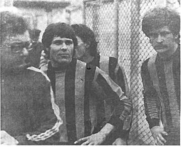 Hanset, Marinelli e Gazzano prima del fischio d'inizio