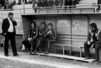 Baveni in panchina col dirigente Franco Lanteri