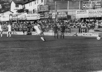 19': lo specialista Pacciani realizza il calcio di rigore