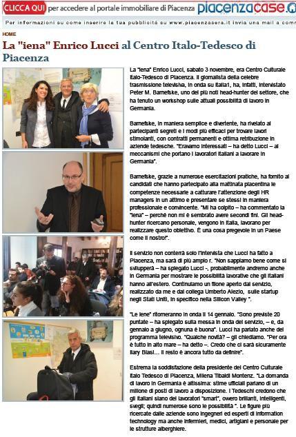"ITALY (Piacenza) - TV Reportage ""Le Iene"""