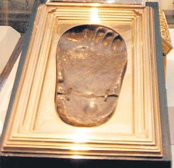 Sein Fußabdruck