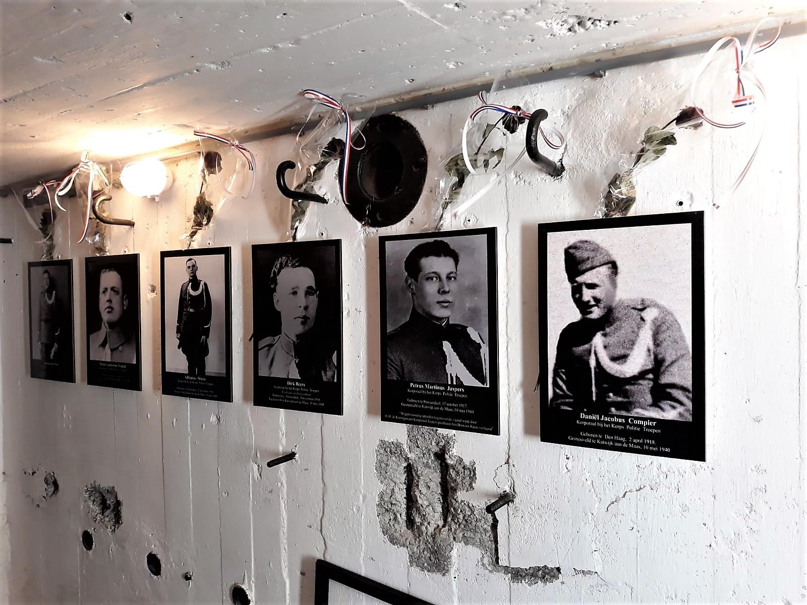 Gesneuvelde NL soldaten in kazemat in mei 1940