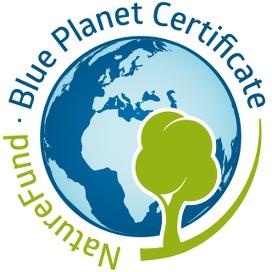 Blue Planet Zertifikat für die FinanzSchneiderei Versicherungsmakler