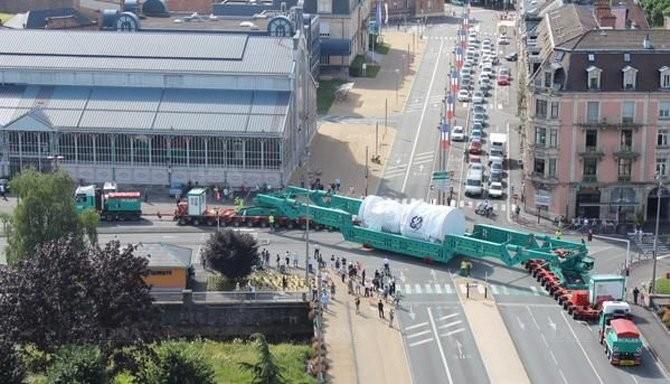 la nouvelle turbine du CCG part de  Belfort le 29 juin 2015
