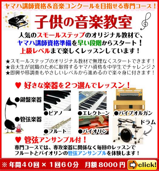 ★ヤマハ講師資格&音楽コンクール対応!子供のフルート教室(専門コース)