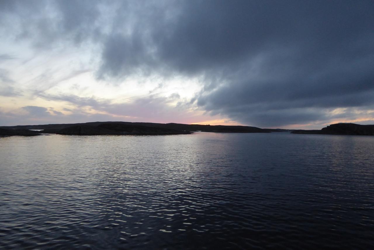 Kälvön Bucht Abend