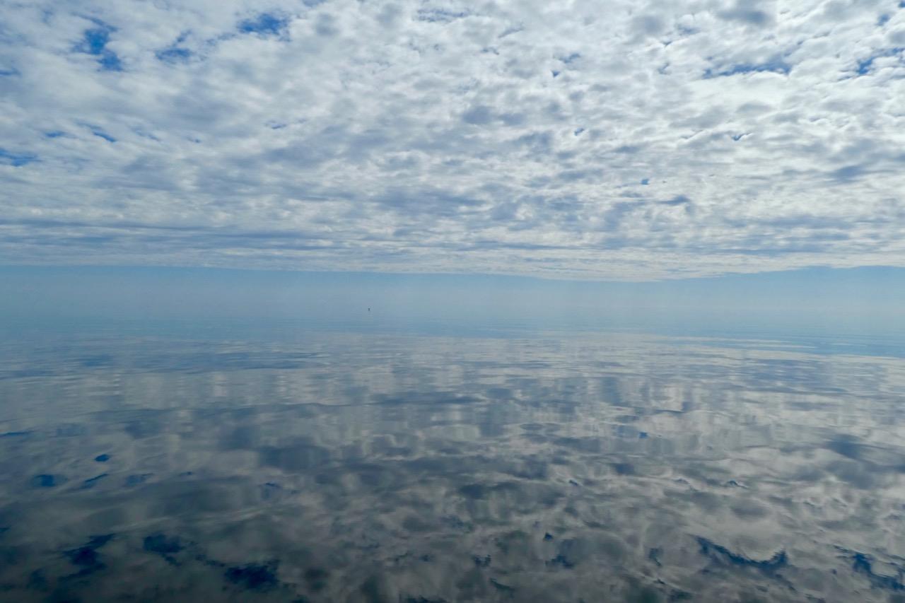 Kurjöviken Wasser und Wolken
