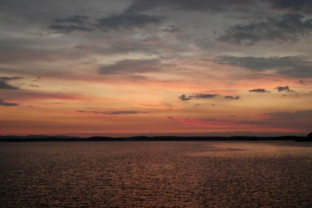 Fläskvik Sonnenuntergang