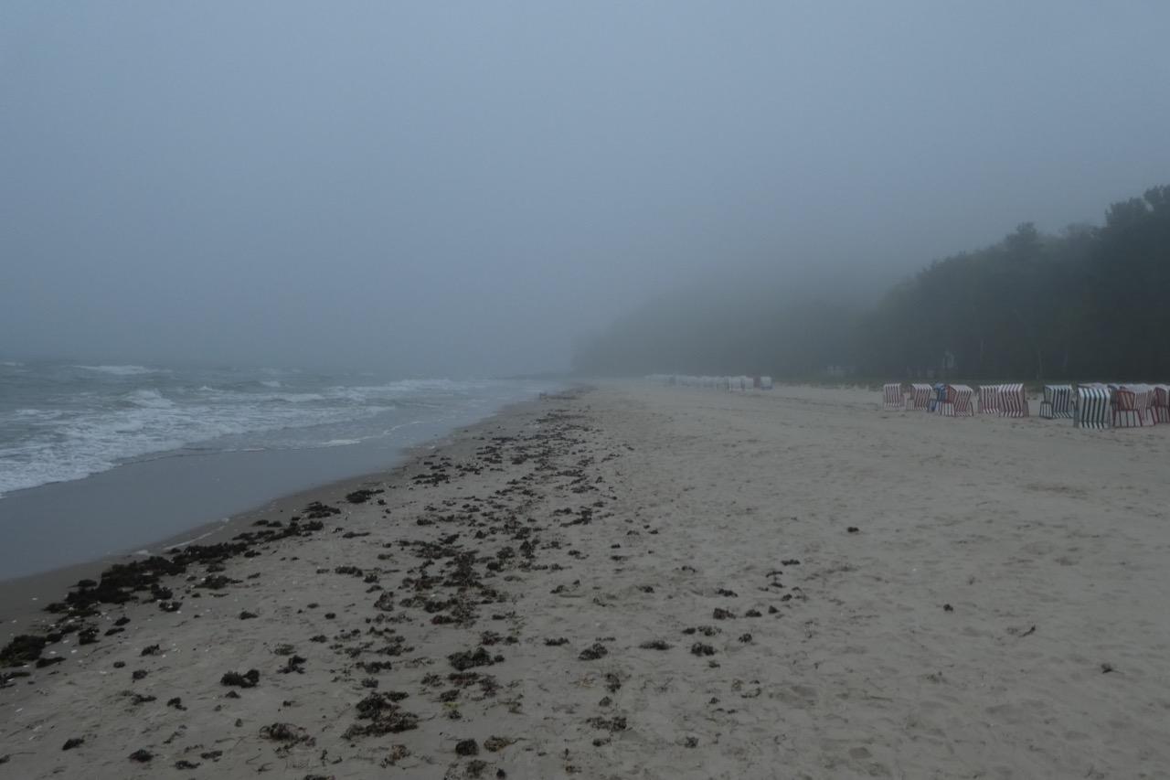 Tiessow Strand Nebel