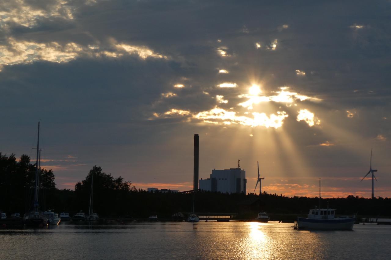 Reposaari Sonnenuntergang