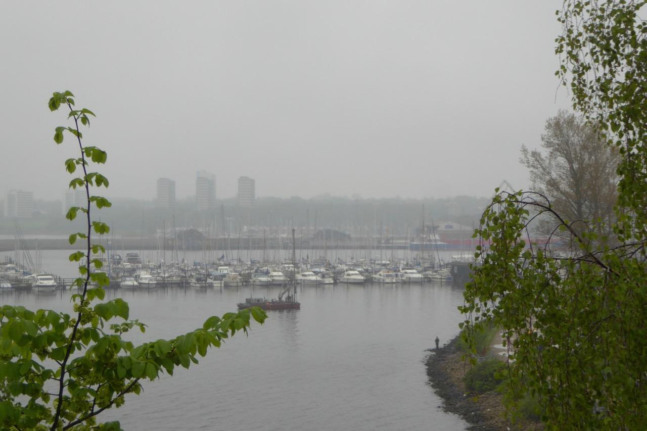 Kolding im Regen