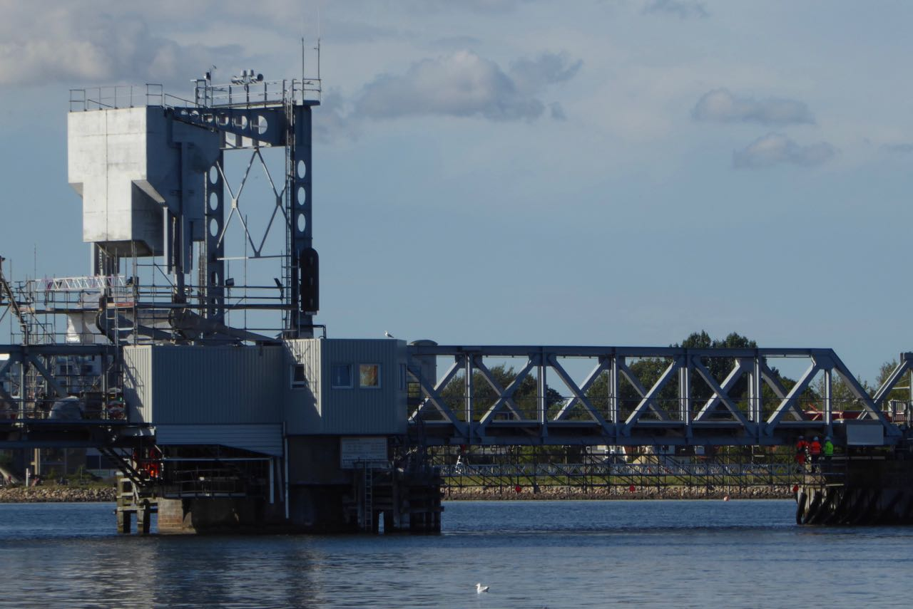 Aalborg defekte Eisenbahnbrücke