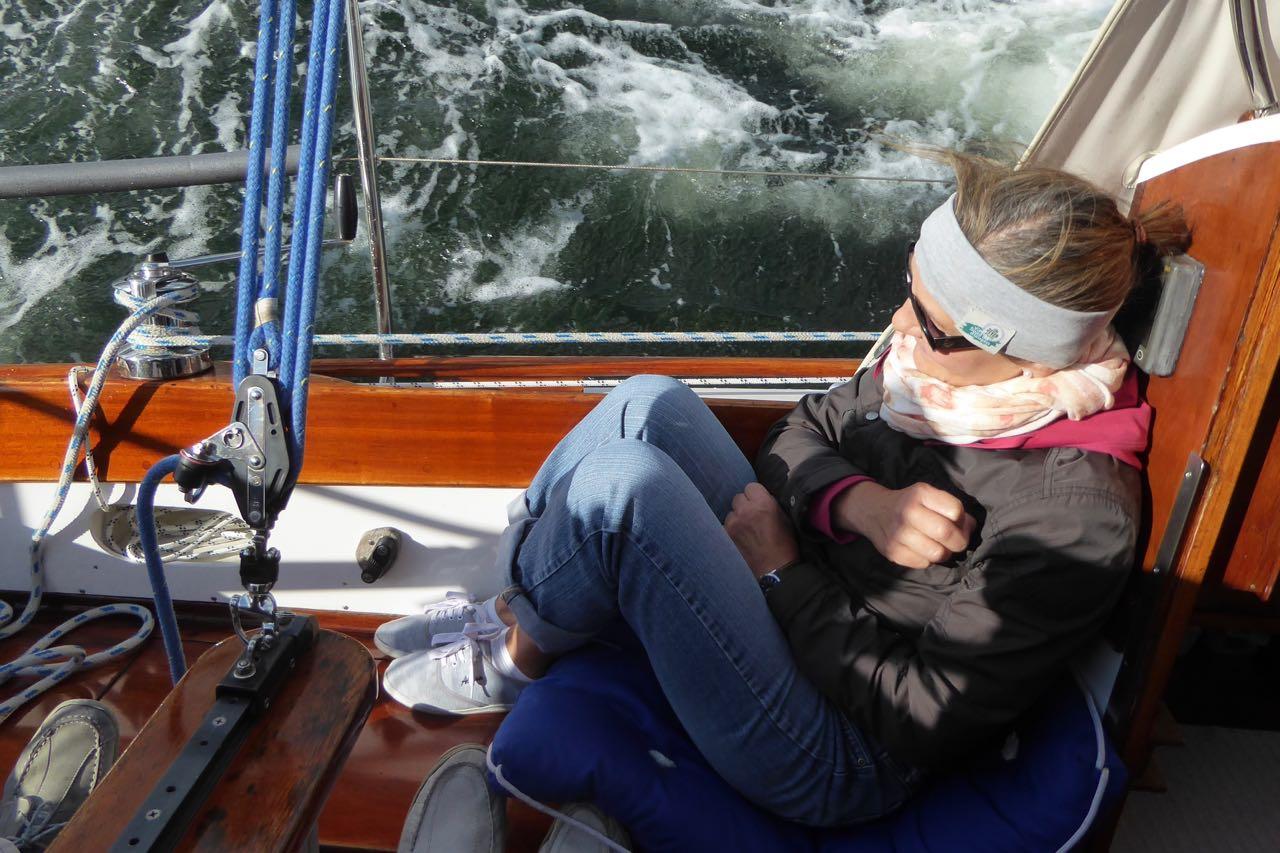 Flensburg Gaby beim Segeln