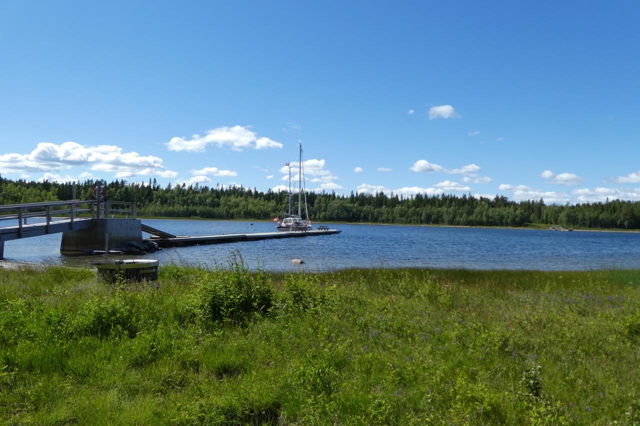 Mellerstön Bucht Steg Odin