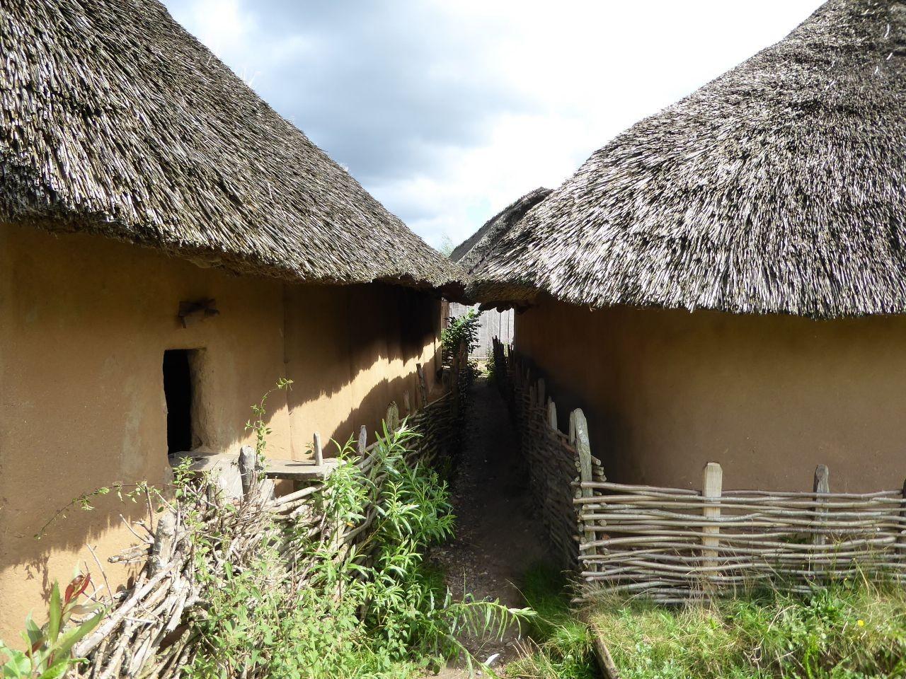 Haithabu Strohhäuser