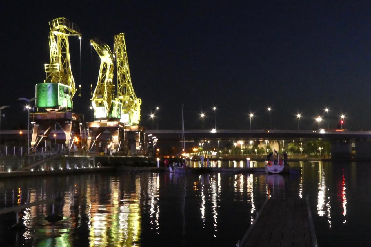Stettin Skyline beleuchtet