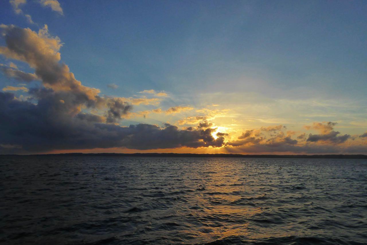 Ebeltoft Sonne am Abend