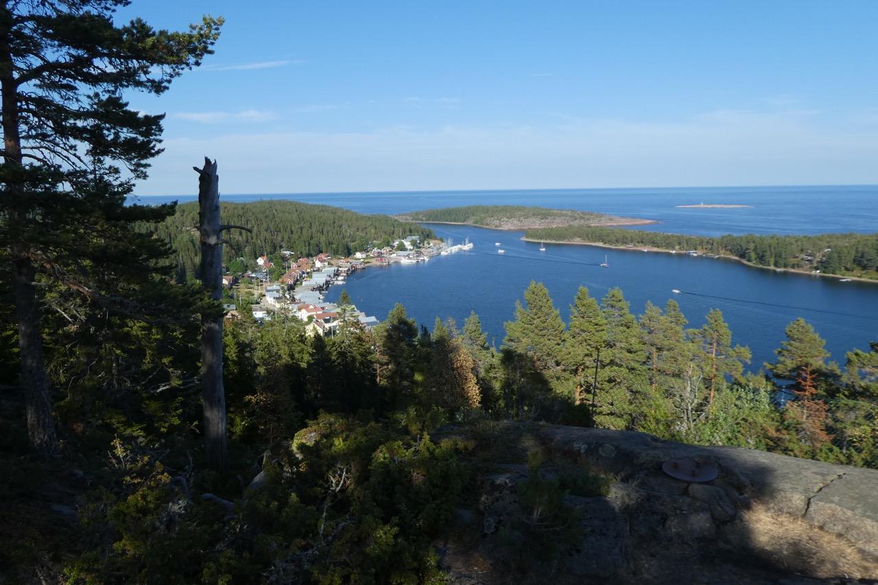 Ulvön Bucht Bergsicht