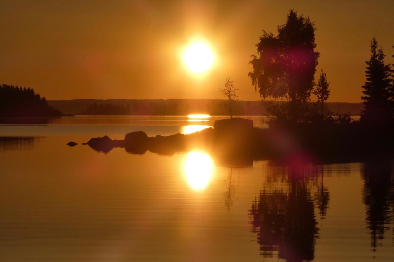 Mellerstön Sonnenuntergang
