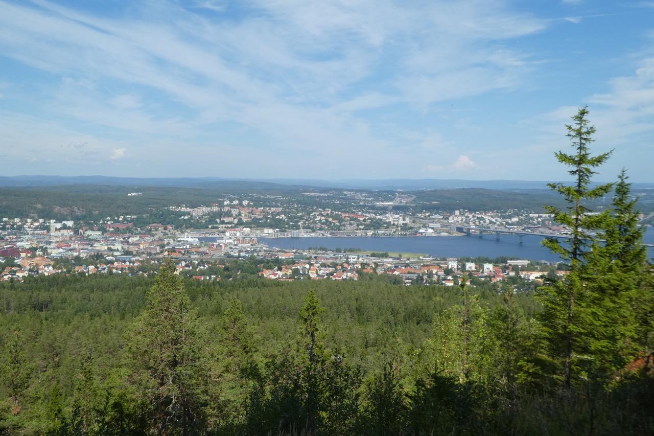 Sundsvall Hausberg Aussicht
