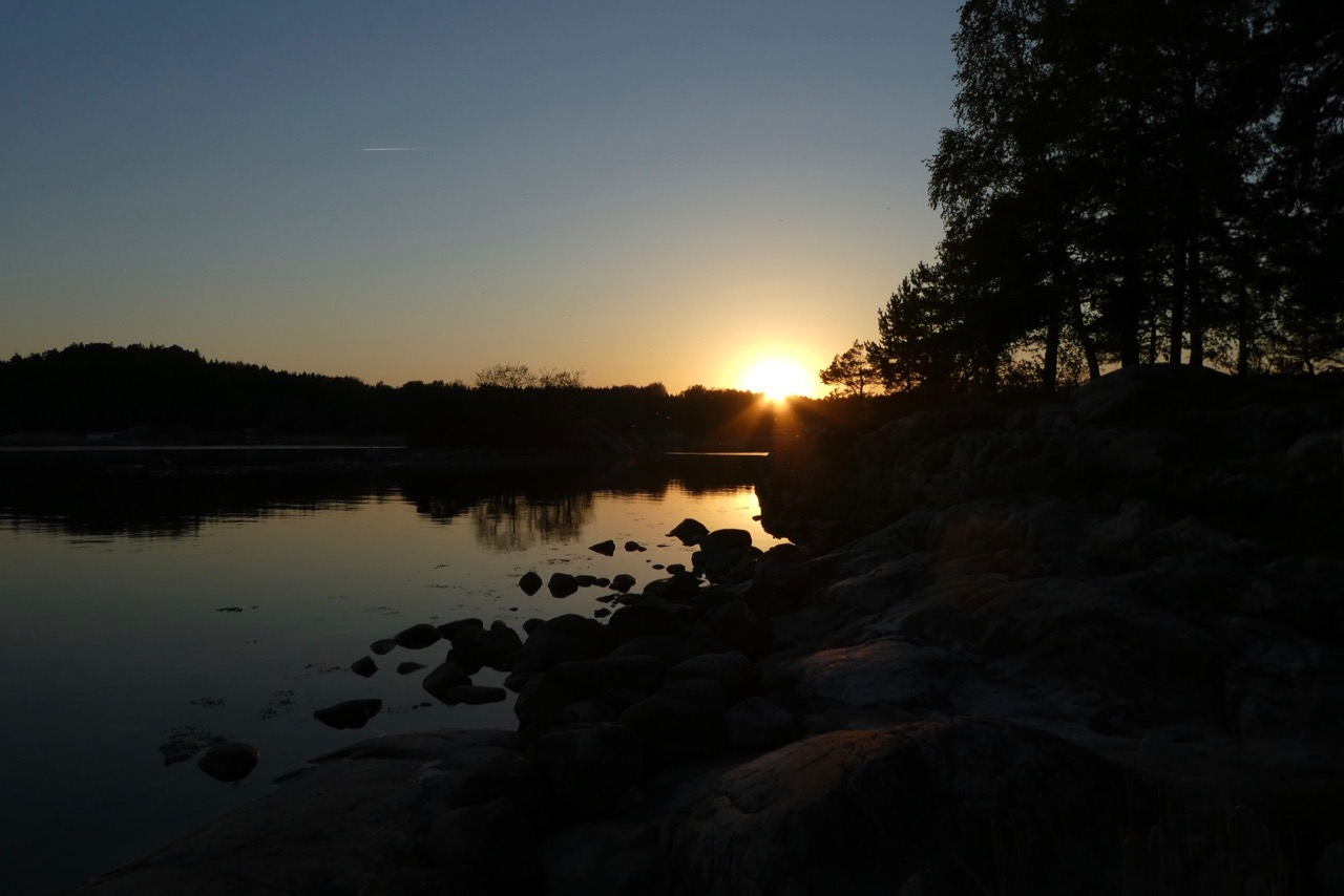 Nävekvarn Schären Sonnenunetrgang