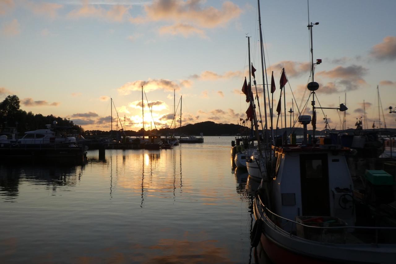 Tiessow Hafen Sonne
