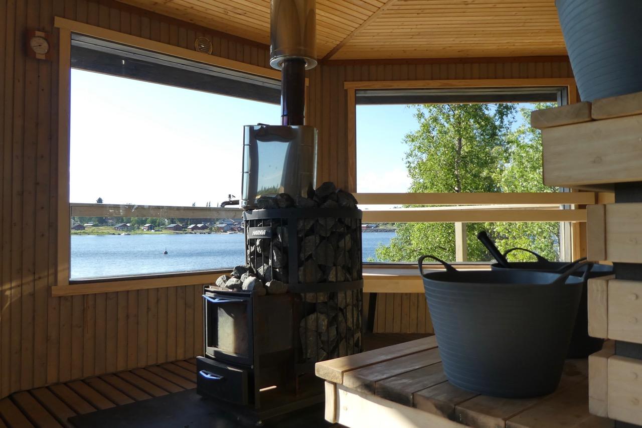 Bredvik Wellenbrecher Sauna Aussicht