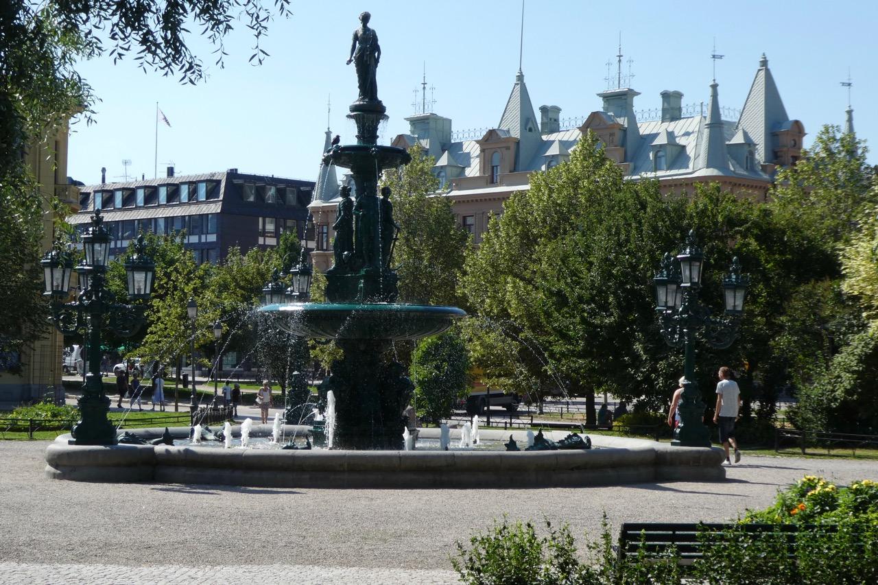 Sundsvall Häuser Brunnen