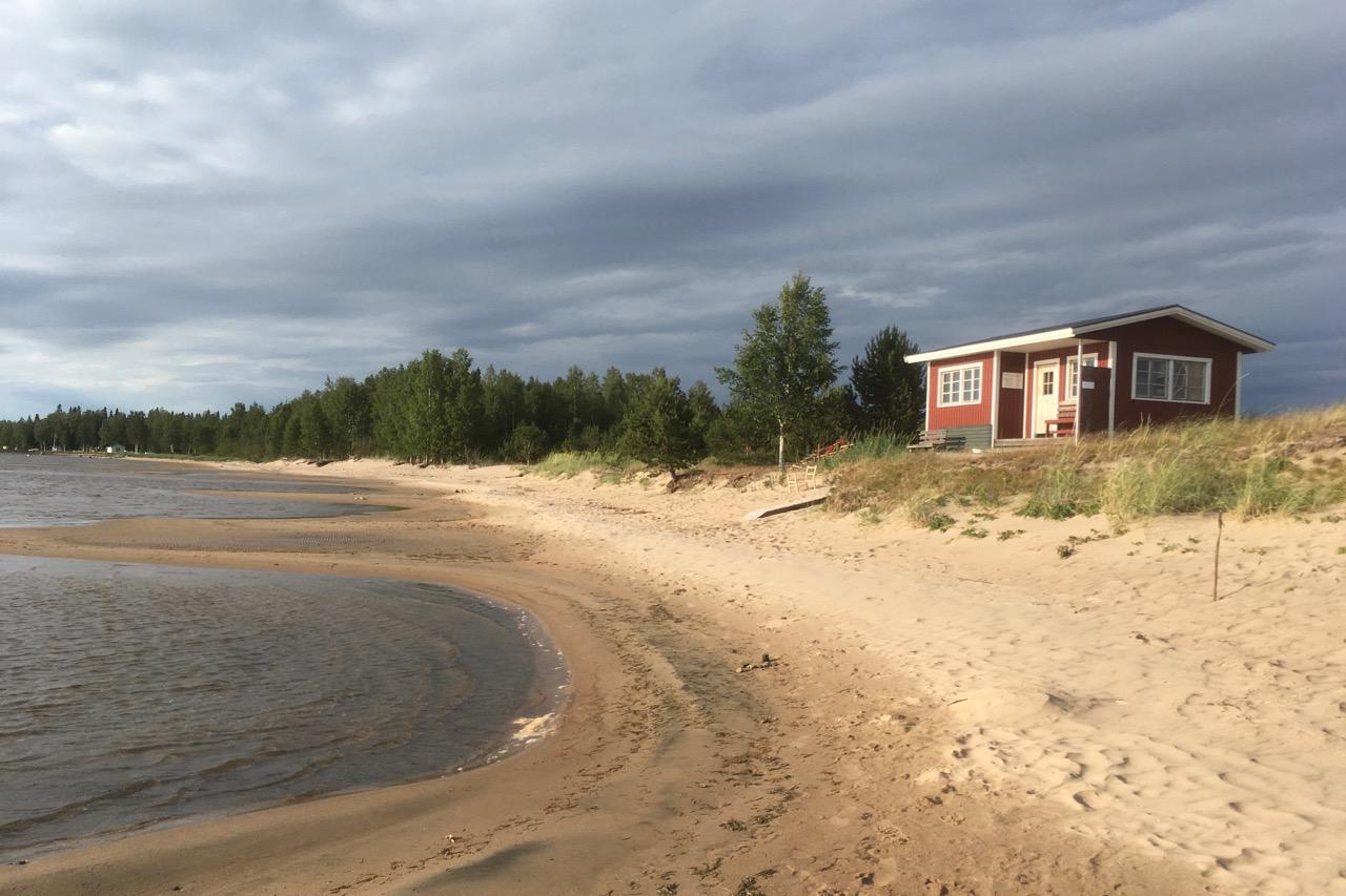 Liggskär Saunahaus und Strand