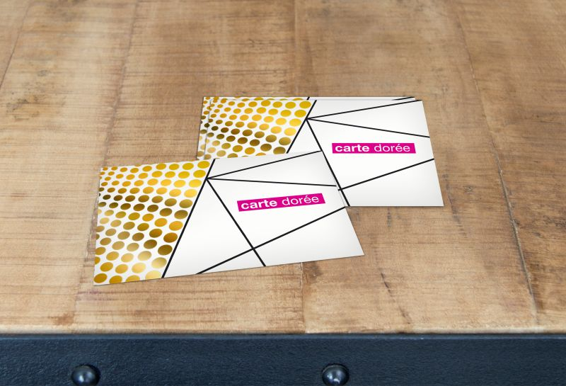 Carte dorée or