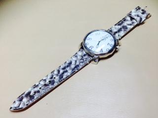 フルオーダー・パイソン時計ベルト