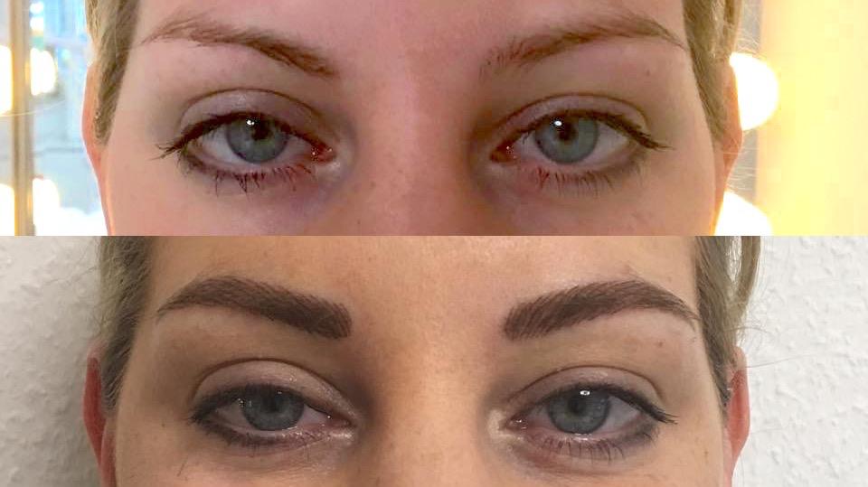 Augenbrauen mit Härchenzeichnung