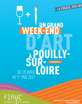 Aankondigings flyer van het art weeken in Pouilly-sur-Loire.