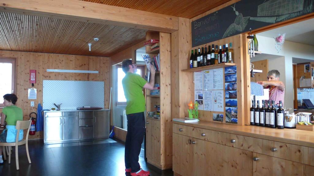 In der Cristallina-Hütte