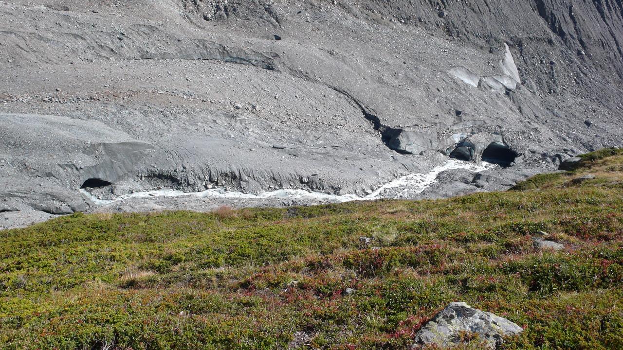 Blick auf den schmelzenden Langgletscher