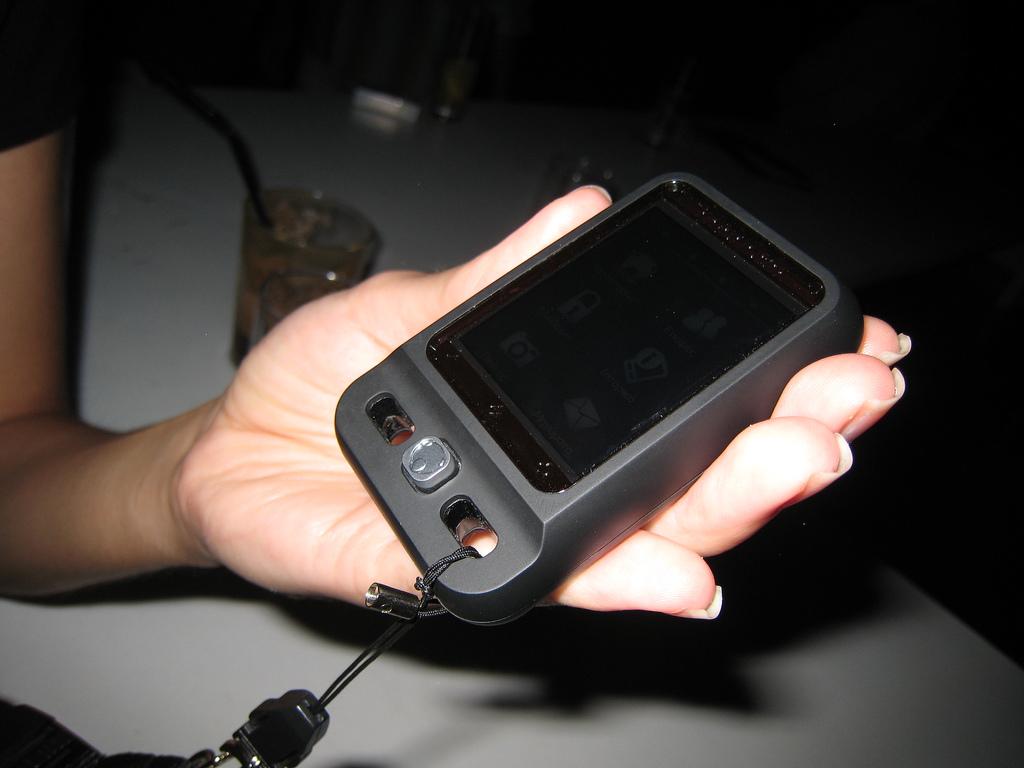 Neonode N1 in the hand
