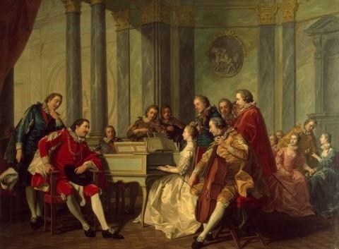 Louis-Michel Van Loo, Sextet - 1768 - Peinture sur toile, Musée de l'Hermitage, St Pétersbourg
