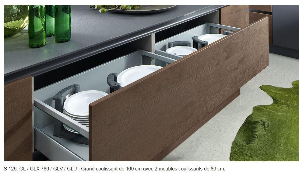 aménagement de tiroirs en grande largeur 180 cm