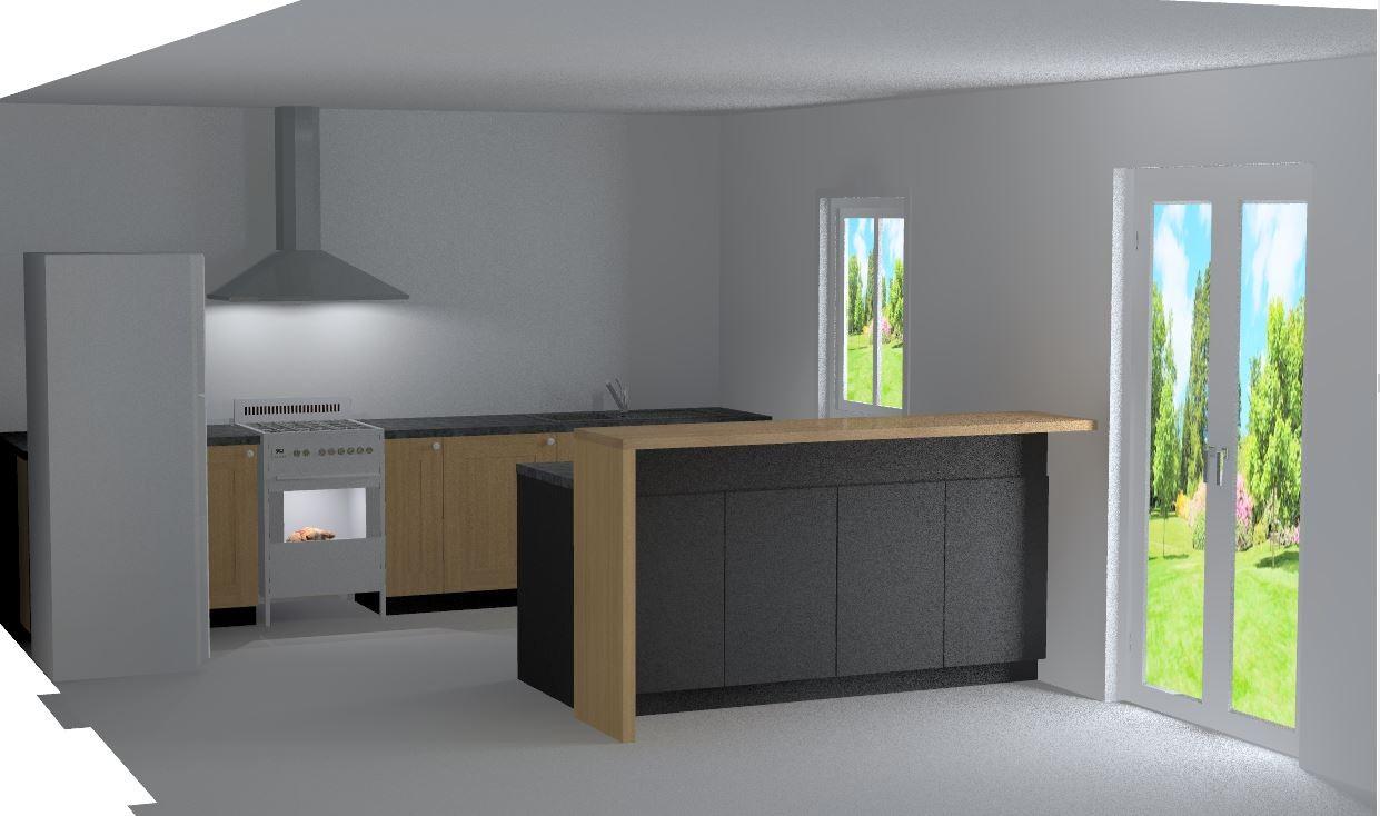 Chambre taupe et gris for Cuisine interieur design