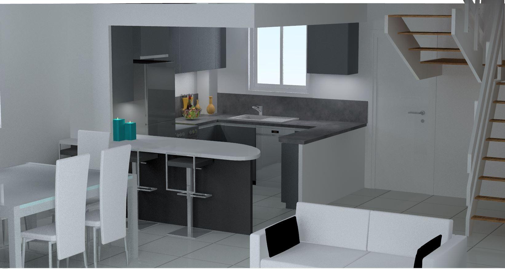 visuel 3D cuisine haut de gamme