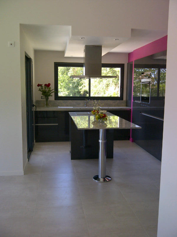 cuisine design en laque un vrai effet miroir