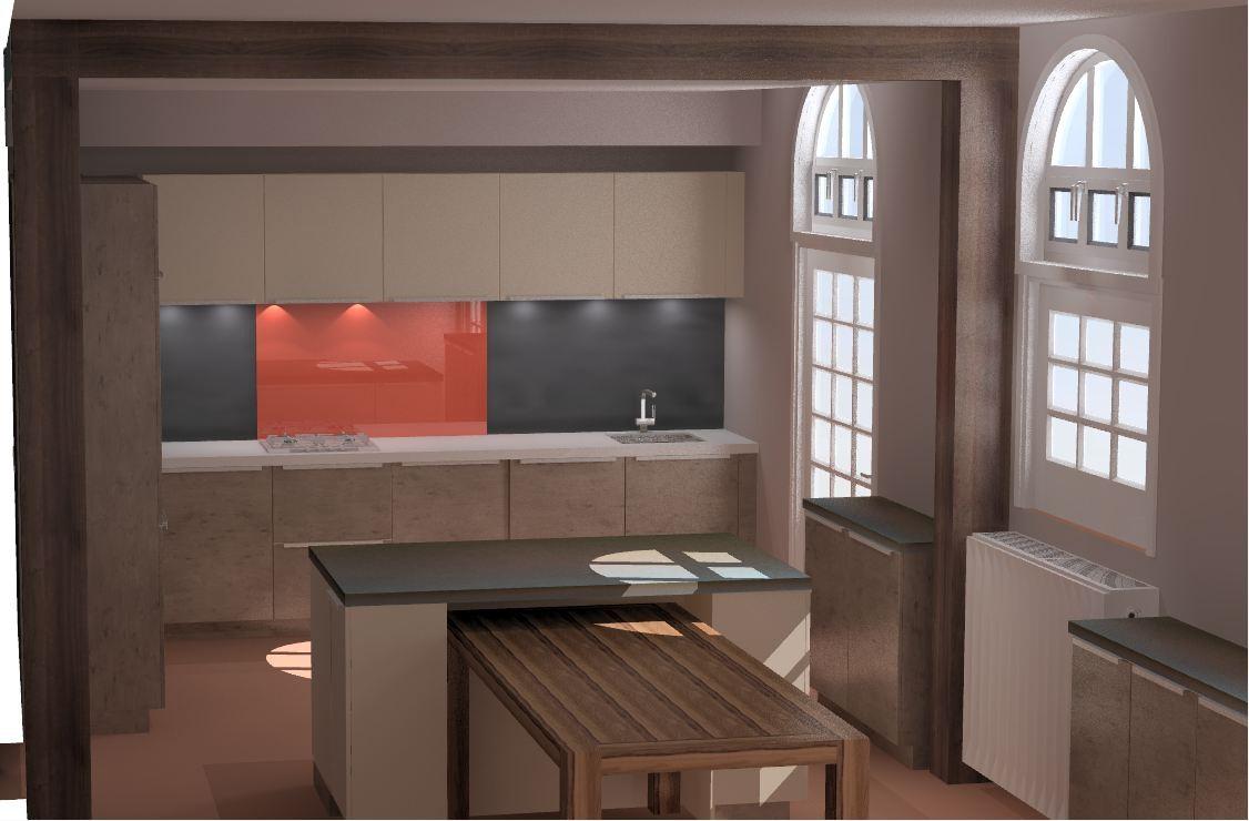 cuisine ilot intégrant une table Cuisine interieur design Toulouse
