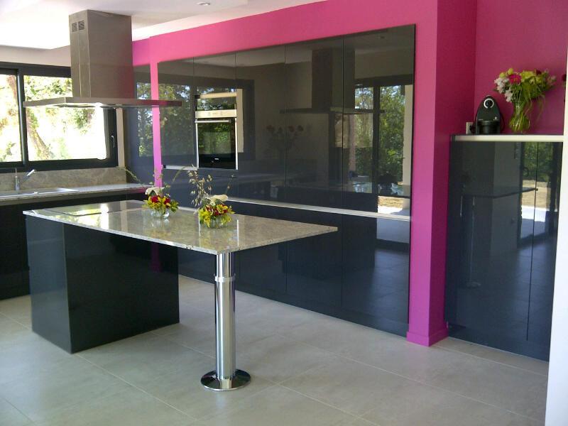 cuisine en laque et en granit cashemire cuisine design
