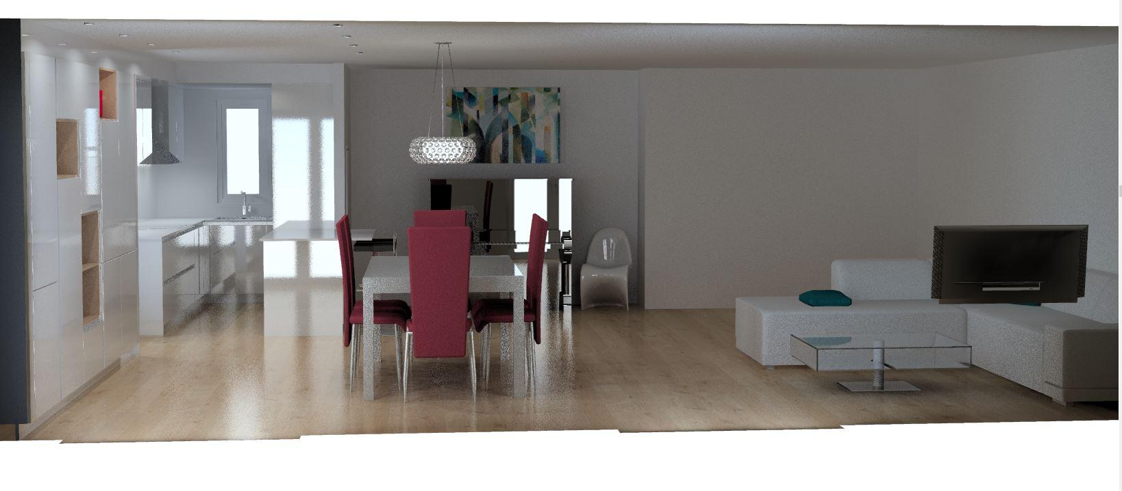 photoréalisme du projet par cuisine design Toulouse